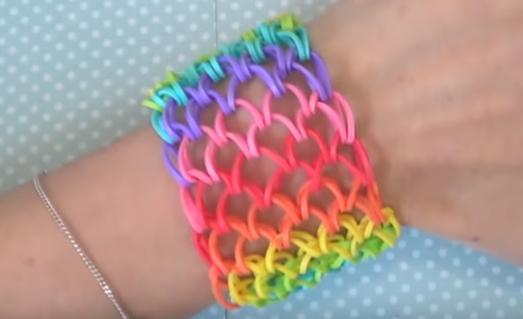 bracelet manchette arc-en-ciel